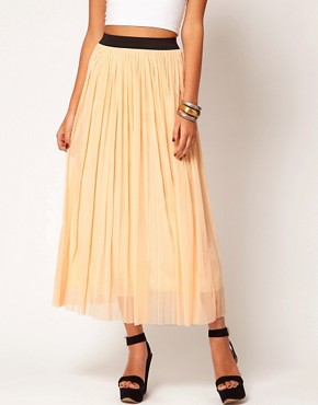Image 4 ofLove Mesh Pleated Maxi Skirt