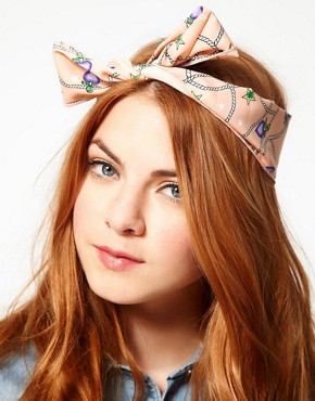 Image 1 ofJohnny Loves Rosie Rope Print Knot Hairband