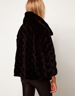 Image 2 ofASOS Short Fur Swing Coat