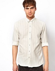 Selected Vertical Stripe Shirt
