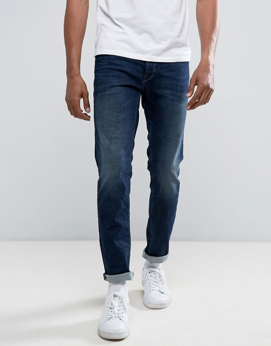 Replay Thyber Slim Taper Dark Wash - Blue