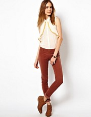 Maison Scotch Le Voyage Velvet Skinny Trousers