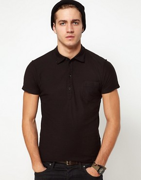 Image 1 ofDiesel Polo T-Ajar Jersey Slub