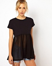 ASOS T-Shirt with Pocket and Woven Hem