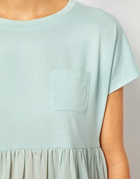 Image 3 of ASOS T-Shirt with Pocket and Woven Hem