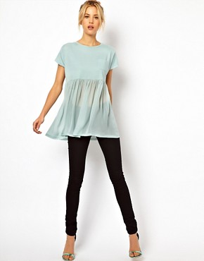Image 4 ofASOS T-Shirt with Pocket and Woven Hem