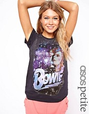 Camiseta con estampado de David Bowie con adornos de ASOS PETITE