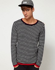 Solid Stripe Nordic Sweater