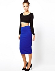 Glamorous Pencil Skirt In Textured Jersey
