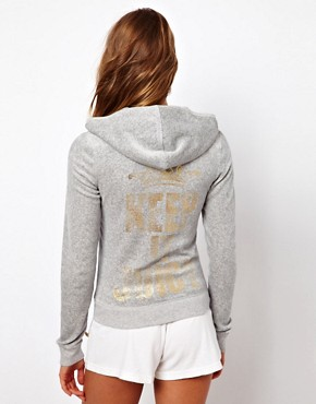 Image 2 ofJuicy Couture Long Sleeve Zip Through Hoodie with Logo