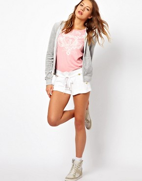 Image 4 ofJuicy Couture Long Sleeve Zip Through Hoodie with Logo