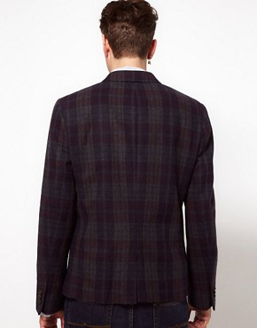 Image 2 of ASOS Slim Fit Check Blazer