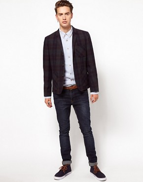 Image 4 of ASOS Slim Fit Check Blazer