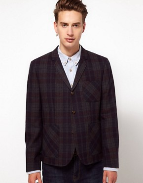 Image 1 ofASOS Slim Fit Check Blazer