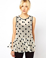 ASOS Top with Flocked Spots