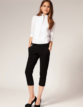 Image 4 ofASOS Pintuck Winged Collar Shirt
