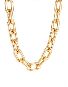Image 1 ofASOS Open Link Chain Collar Necklace