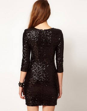 Image 2 ofTFNC Sequin Dress with Long Sleeves