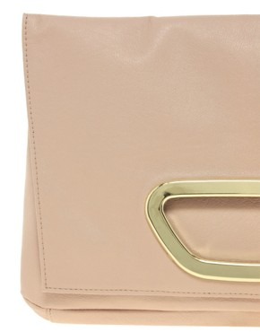 Image 2 ofASOS Fold-over Metal Plate Clutch Bag