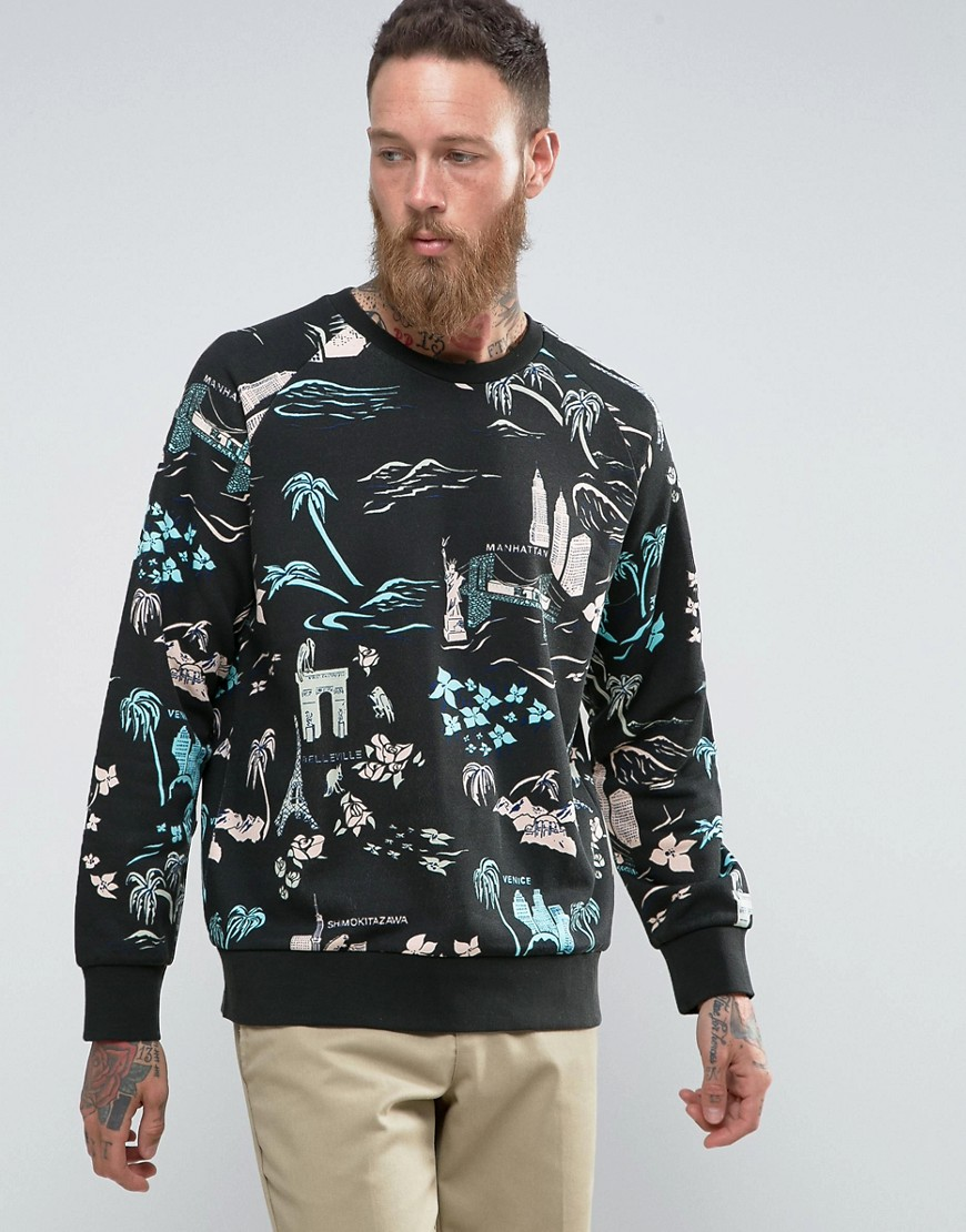 Weekday Paris Tourist Sweatshirt - Aop print
