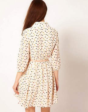 Image 2 ofTed Baker Spot Dress with Belt