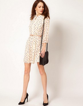 Image 4 ofTed Baker Spot Dress with Belt