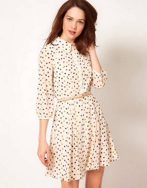 Image 1 ofTed Baker Spot Dress with Belt