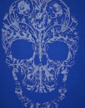 Image 3 ofB Side By Wale Skully V Neck T-Shirt
