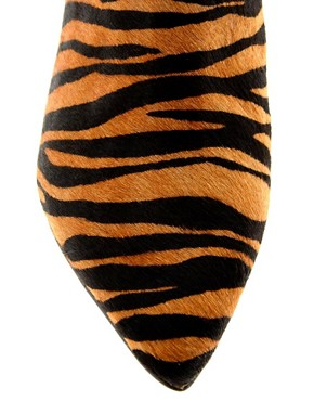 Image 4 ofCarvela Stripy Tiger Print Low Heel Shoe Boots
