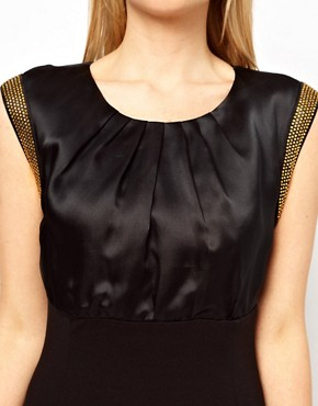 Image 3 ofTed Baker Bead Trim Pencil Dress