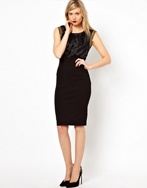 Image 4 ofTed Baker Bead Trim Pencil Dress