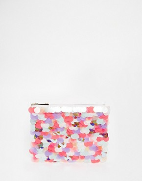 ASOS Oversized Mermaid Sequin Clutch Bag