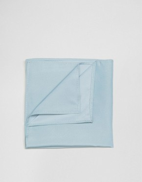 ASOS WEDDING Pocket Square In Blue