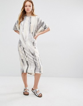 Native Youth Midi Tunic Smock Dress