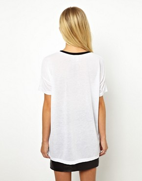 Image 2 ofASOS Varsity Number 73 T-Shirt