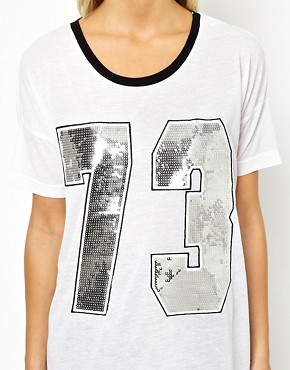 Image 3 ofASOS Varsity Number 73 T-Shirt