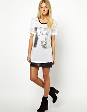 Image 4 ofASOS Varsity Number 73 T-Shirt