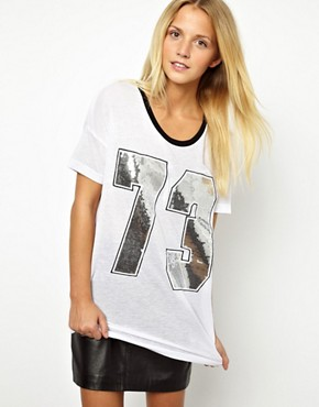 Image 1 ofASOS Varsity Number 73 T-Shirt