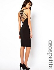 ASOS PETITE Midi Dress with Lattice Strap