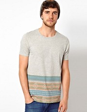 ASOS T-Shirt With Aztec Hem Stripe