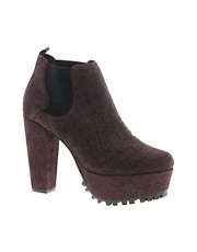 Senso Rex Burgundy Platform Ankle Boots