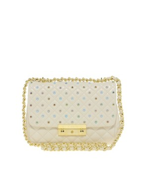 Image 1 ofMoschino Cheap &amp; Chic Leather Sweet Stud Bag