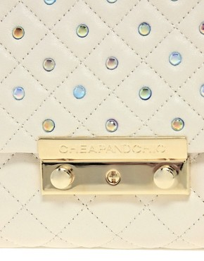 Image 4 ofMoschino Cheap &amp; Chic Leather Sweet Stud Bag