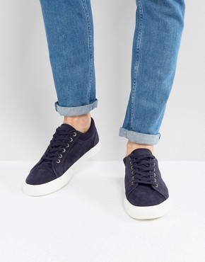 ASOS Trainers In Navy With Cuff