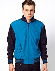 Fred Perry Bomber Jacket with Colour Block
