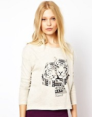 Brat &amp; Suzie Top With Tiger Print