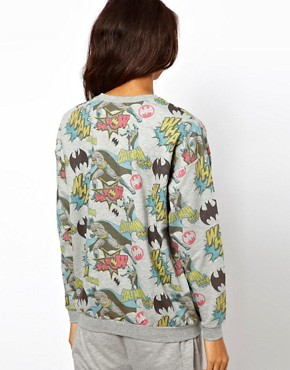 Image 2 ofASOS Sweatshirt with Batman Print