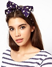 ASOS Bird &amp; Heart Print Head Scarf