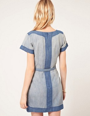 Image 2 of French Connection Denim Panel Dress