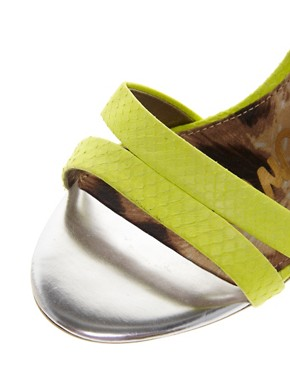 Image 3 ofSam Edelman Abbott Lime Strappy Sandals